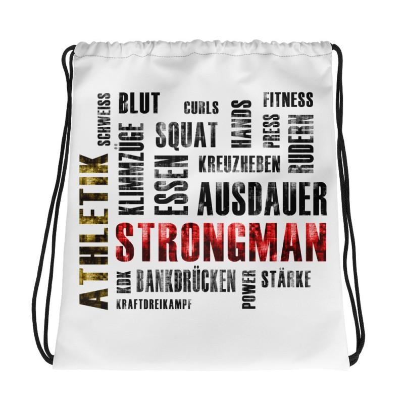 Vorderseite: Kordelzugtasche Strongman