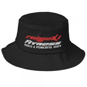 Stylischer Bucket Hut mit dem Raigeki Fitness Logo